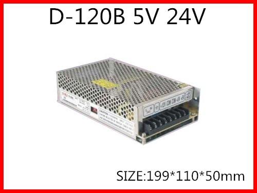 ᗔ120W Dual Output Switching power supply Output Voltage 5V 24V AC ...