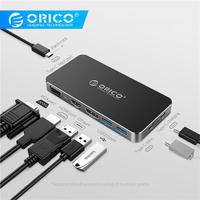 ORICO Type C to HDMI DisplayPort VGA Adapter for MacBook Samsung Galaxy S9/Note 9 Huawei P20 Pro Type C USB HUB