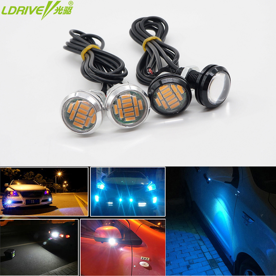 2PC/lot Multifunction Hawkeye Car LED daytime running lights Rearview mirror Reversing auxiliary DRL headlights Motorcycle light