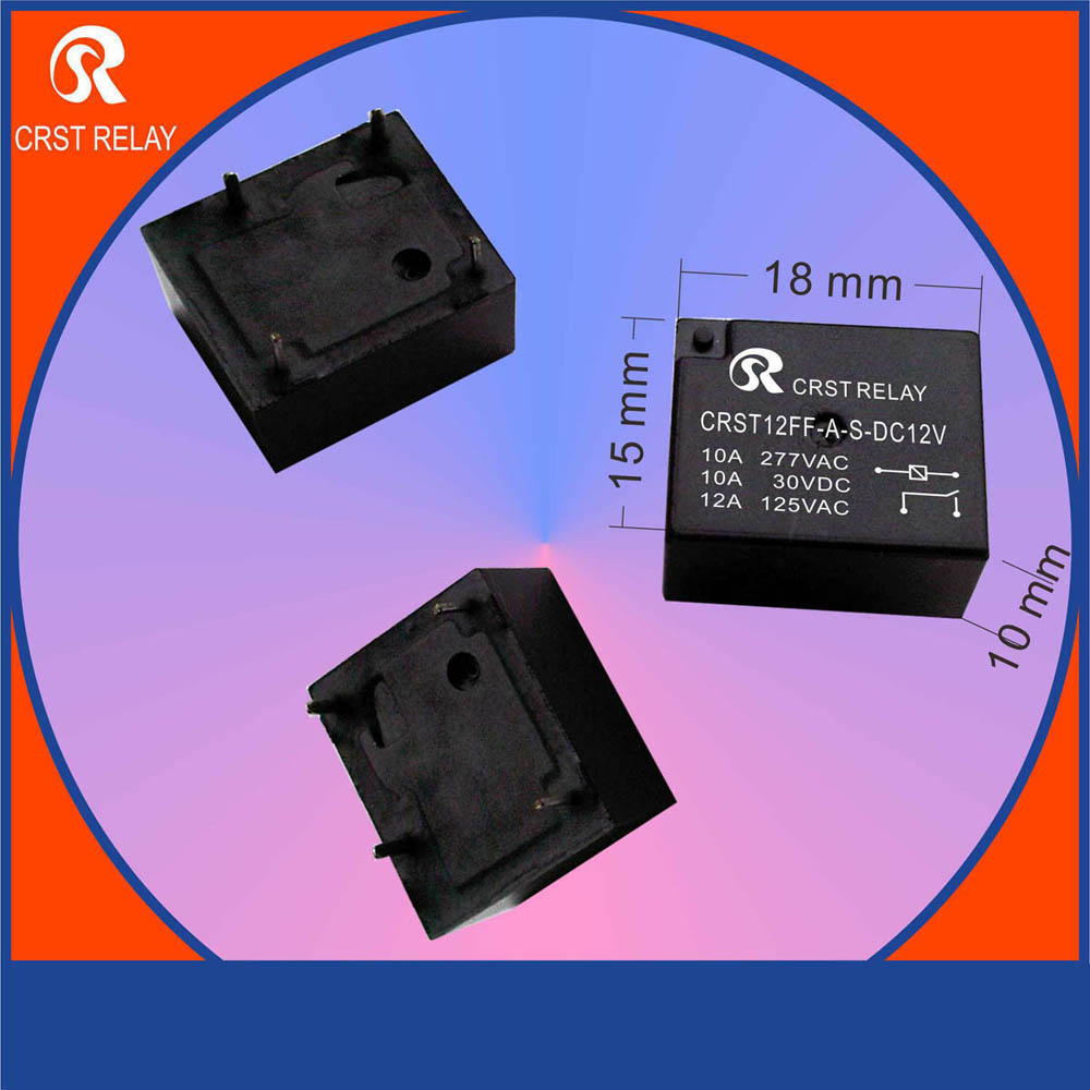 CRST12FF Single Pole Single Throw 4 Foot Normally Open 10A Relay JH12F RWV5 YX206E NT77 971 normally open single phase solid state relay ssr mgr 1 d48120 120a control dc ac 24 480v