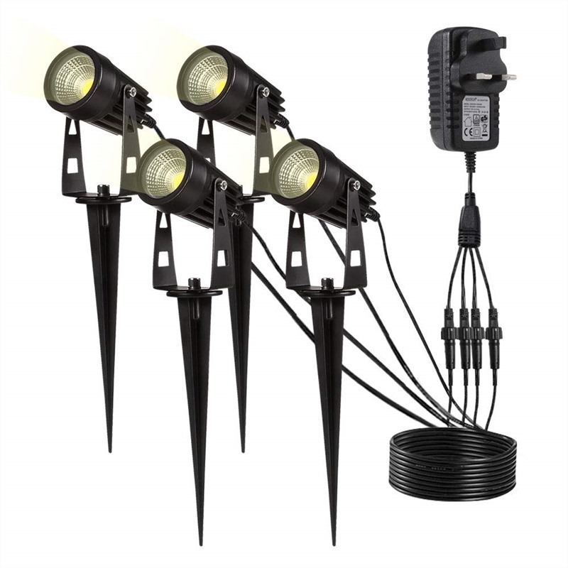 4pcs Set Garden Spotlights Lights Warm White Color LED Lights Patio Plant Lamps Outdoor Garden Light Waterproof Dropshipping