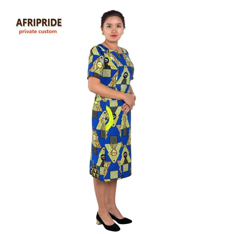 Saman gaya 2-bahagian Afrika untuk wanita AFRIPRIDE separuh lengan - Pakaian kebangsaan - Foto 2