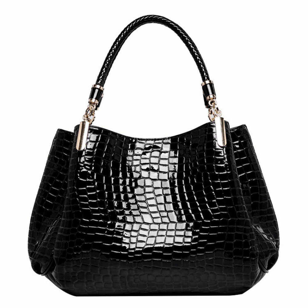 Vintage Woman Leather Handbag Shoulder Bag Messenger Tote Crocodile Pattern Bags Handbags Women Famous Brands bolsos #YL5