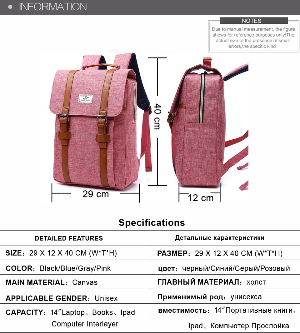 18 Vintage Men Women Canvas Backpacks School Bags for Teenagers Boys Girls Large Capacity Laptop Backpack Fashion Men Backpack 1