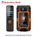 Dual Screen Flip Phone Rover X9 3.5 Inch Touch Screen 1500mAh Dual SIM Card Quad Band GSM One-key Dial And Call Mobile Phone