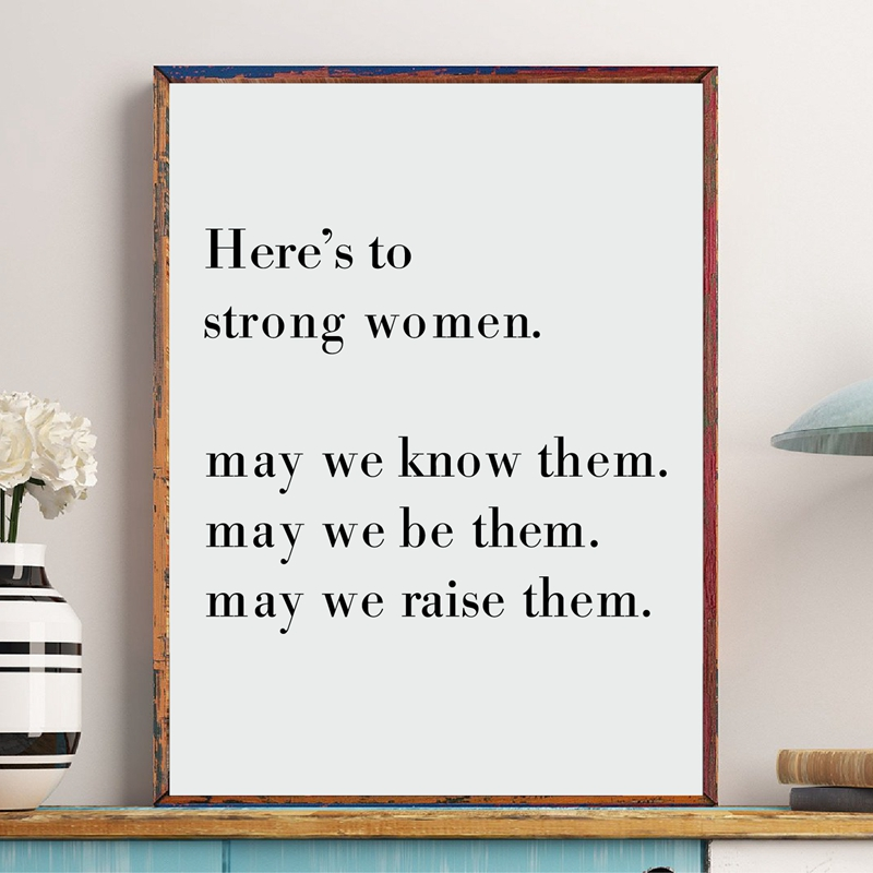 WOMEN FEMALE GIRL POWER FASHION quote positive poster picture print wall art 29