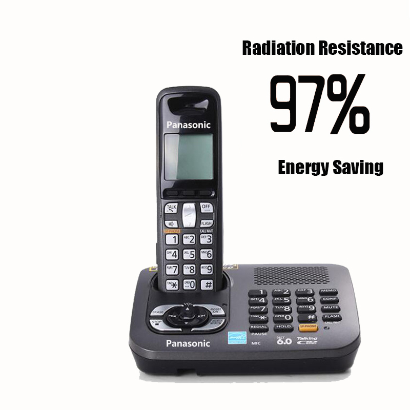 Dect 6.0 Digital Cordless Phone With Answer Machine Handfree Voice Mail Backlit LCD Fixed Telephone For Office Home Bussiness english digital cordless phone with answer systerm call id home wireless base station cordless fixed telephone for office home