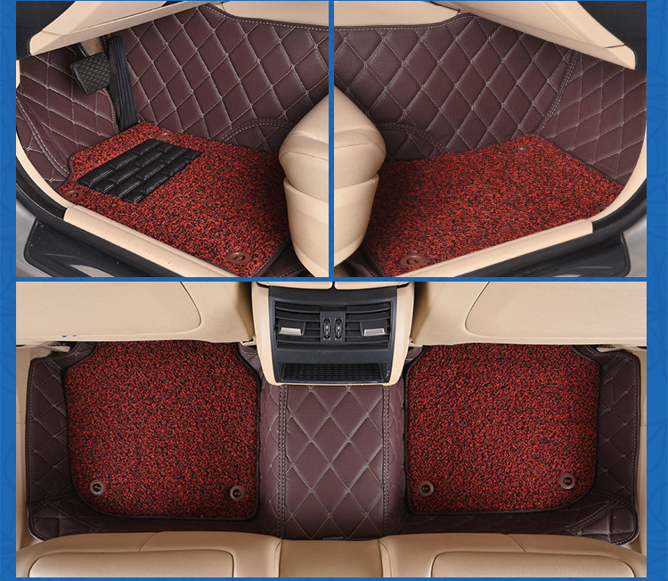 Myfmat custom foot leather rugs mat for VW GOL SANTANA TIGUAN L Touran JETTA Tiguan Passat Variant free shipping easy cleaning