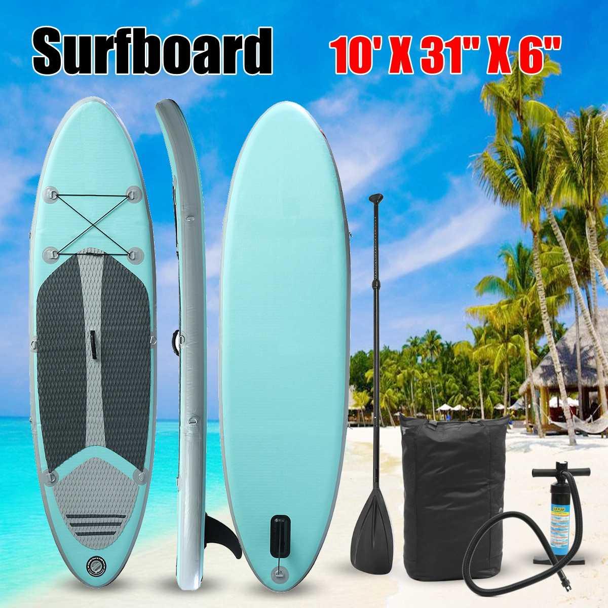 Planche de surf gonflable planche de surf souple Stand Up Paddle W/paquet 112x31x6 pouces 120 kg portant