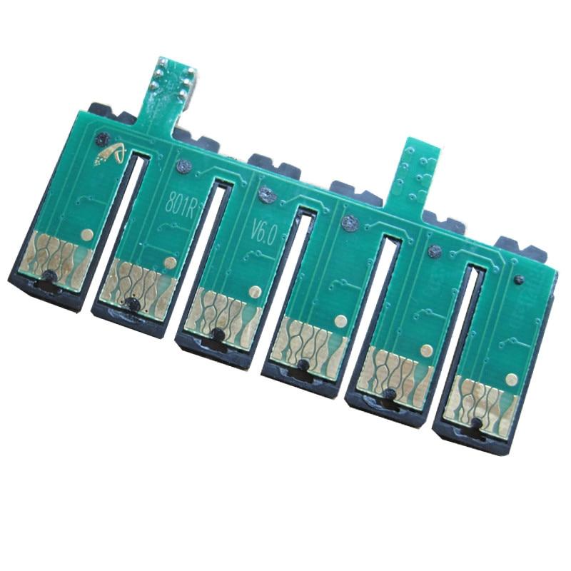 Bilgisayar ve Ofis'ten Sürekli Mürekkep Besleme Sistemi'de T0821N ciss kalıcı çip için EPSON Stylus fotoğraf T50 R290 R390 RX590 RX610R X690 TX650 TX700W TX710W TX800FW TX810FW yazıcı