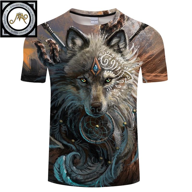 Wolf Warrior by SunimaArt 3D   T     shirts   Men   T  -  shirts   New Design Drop Ship Tops Tees Short Sleeve Tshirt Camiseta Summer Animal