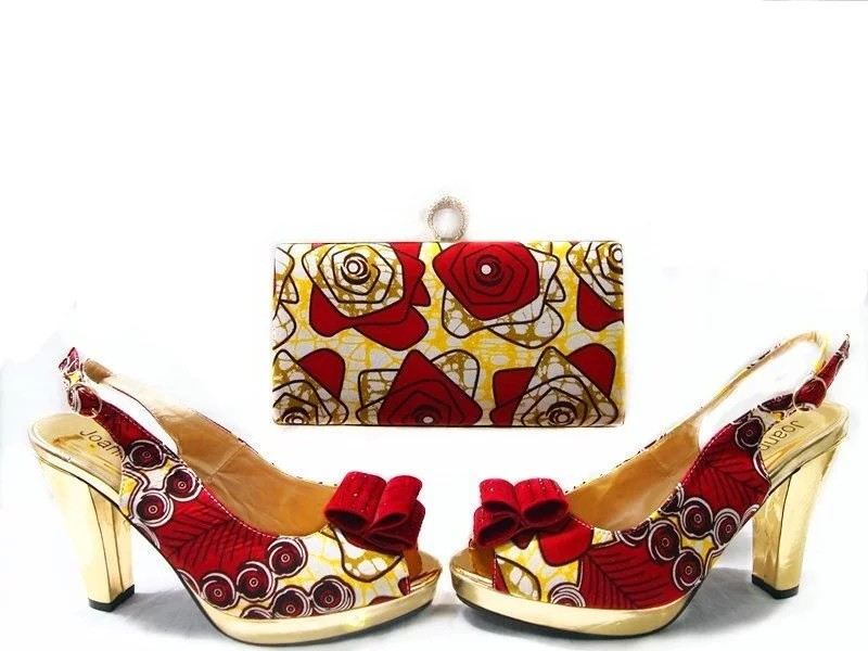 ФОТО African Women Shoes With Matching Bag Set Fashion Pumps Shoes High Quality Italian Shoes And Bag Set For Wedding JA109