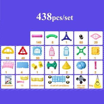 218-438 Pcs Magnete Spiedi Sfere Di Metallo Del Progettista Magnetica Construction Set 3D Costruzione Blocchi Giocattoli Per I Bambini Bambini Regali