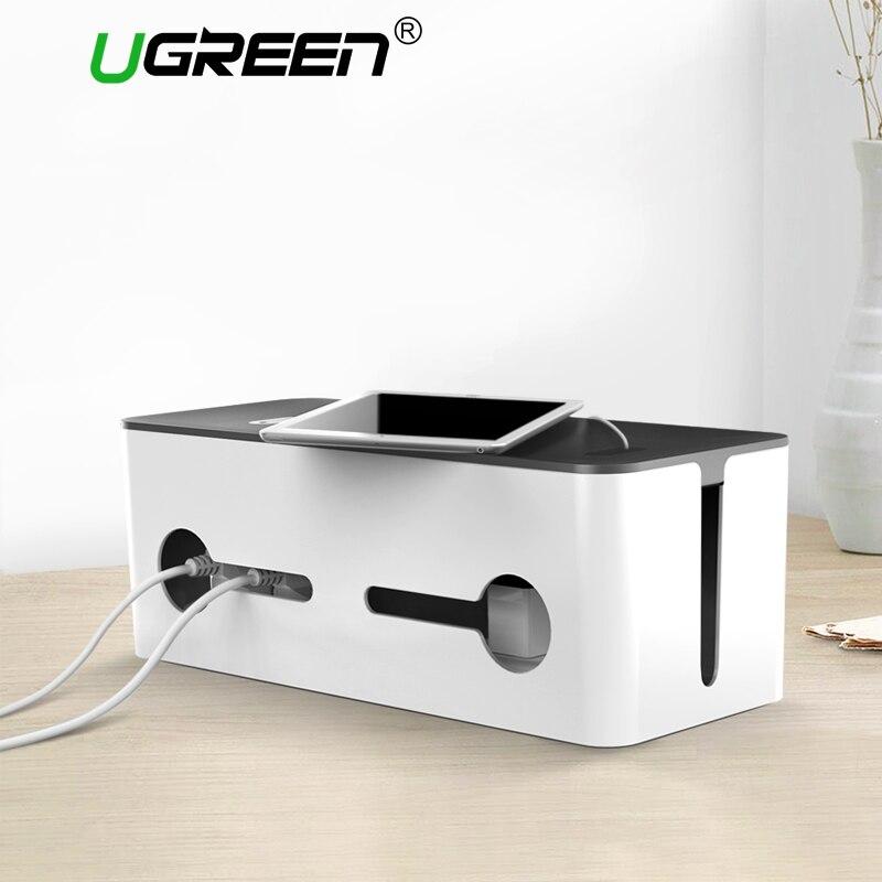 Ugreen Maison Électronique Accessoires Câble Organisateur Box pour Power Bande De Stockage USB Chargeur Câble Gestion Haute-capacité Boîte