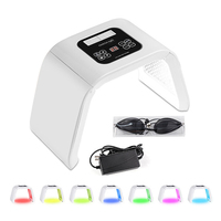 7 Color LED Photon Light Therapy Beauty Machine PDT Lamp Treatment Skin Acne Remover Anti wrinkle Portable Spa Mask Machine