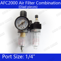 Free Shipping AFC 2000 Air Filter Regulator Combination AFC2000 Lubricator Combinations 1 4 Port FRL Union