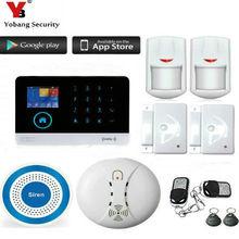 YobangSecurity Wireless GSM WIFI Home Security Burglar Alarm System Kit Auto Dialing Wireless Strobe Siren Android iOS APP
