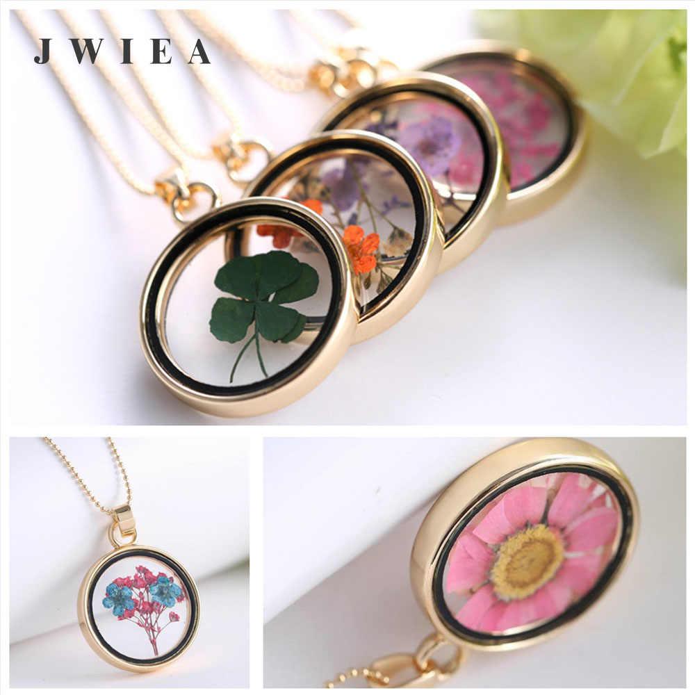 قلادة الزهرة الكريستال الذهب جولة زهرة مصنع شخصية Bff أفضل صديق قلادة هدية تخرج مخصص Jwelry للنساء