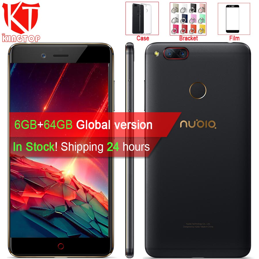 Ursprüngliche ZTE Nubia Z17 mini Handy 5,2 ''6 GB RAM 64 GB ROM Löwenmaul 652 Octa-core Dual Rückfahrkamera 13MP Android Telefon
