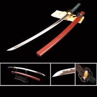 Hand Forged Samurai Katana Japanese Sword Full Tang Cutting Practice Espadas Sharp Bushido Sword Samurai Cosplay Display Knife