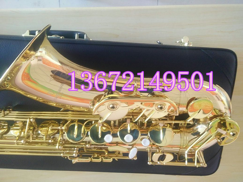 2018 New B flat tenor saxophone T901 Sax Top musical performance professional-grade Gold Lacquer saxophone free shipping brand new soprano saxophone yss 475 bronze b flat playing professionally one straight top musical instruments professional grade