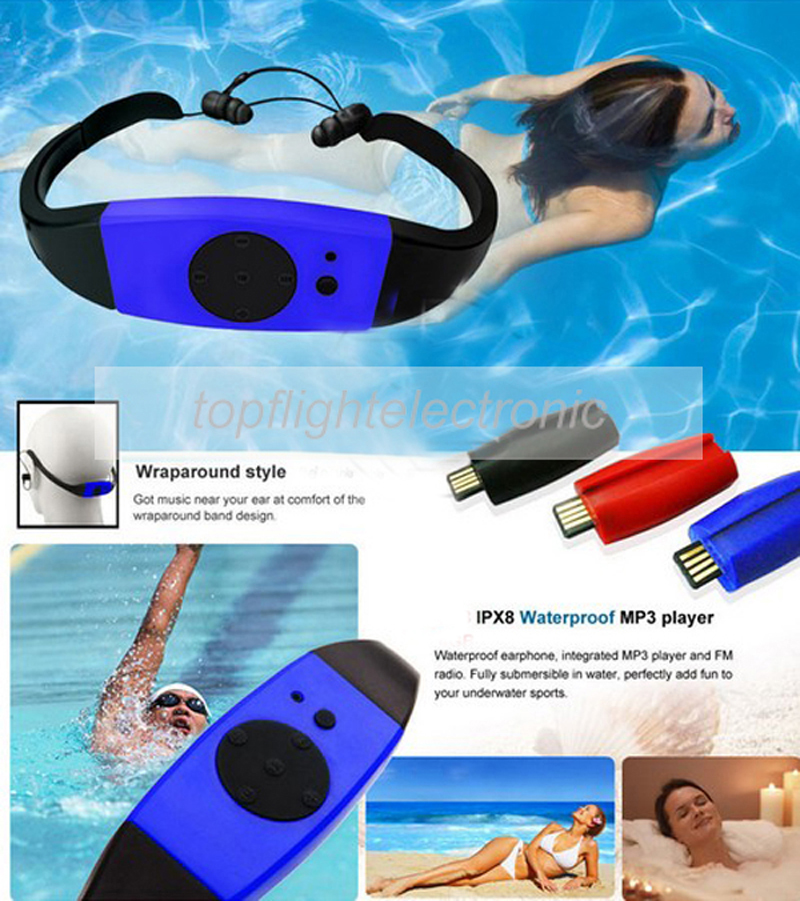 003 4GB/8GB Waterproof IPX8 Diving Swimming Surfing MP3 Player Headset FM Radio Music Player image