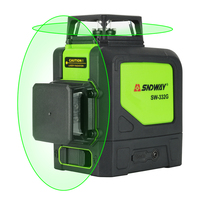 Sndway 8 lines laser level 360 Horizontal And Vertical Cross Powerful Red Laser Beam Line leveler 2D Laser Level Self Leveling