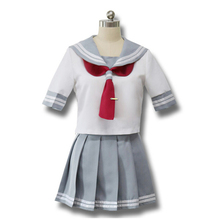 Japanese school uniforms sailor suit tops+tie+skirt JK Anime lovelive Aqours School Uniforms Lala Cheerleader clothing