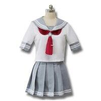 Scuola giapponese uniforme da marinaio top + tie + skirt JK Anime lovelive Aqours Uniformi Scolastiche Lala Cheerleader abbigliamento
