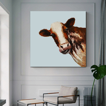 posters infantis animal cow print baby picture wall art canvas paintings for childern room Scandinavian home decor