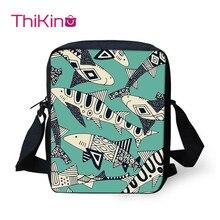 Thikin Shark Child Shoulder School Square Messenger Bag Animal Kids Crossbody Schoolbag For Girls Book Bags Mochila Infantil