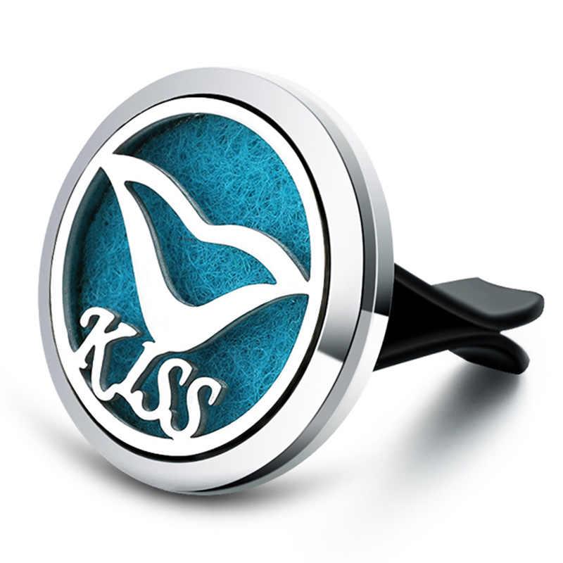 2019 Kiss ปาก Aroma Diffuser สแตนเลส Car Air Freshener น้ำหอม Essential Oil Diffuser Locket จี้