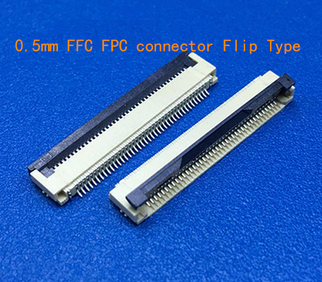 10pcs FFC / FPC Connector 0.5 Mm 4 Pin 5 6 7 8 10 12 14 16 18 20 22 24 26 18 30 P Bottom Contact Right Angle SMD / SMT ZIF Fpc