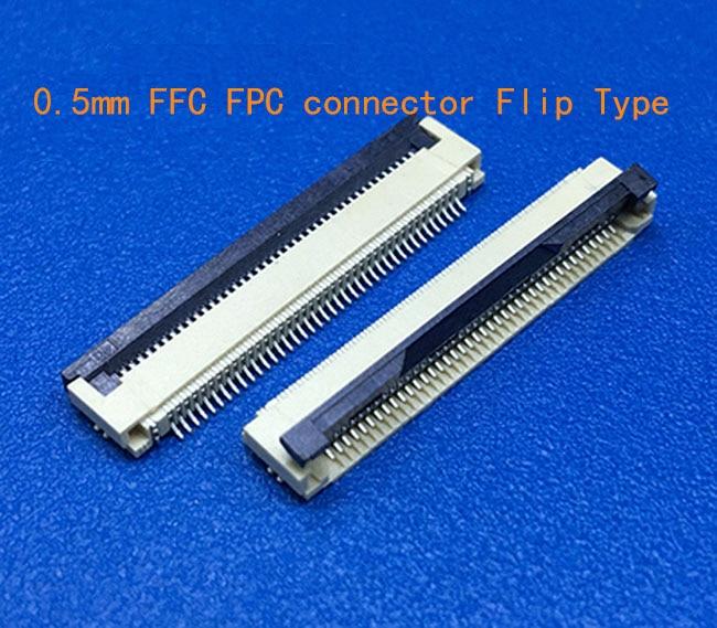 Коннектор FFC/FPC, 0,5 мм, 4 контакта, 5, 6, 7, 8, 10, 12, 14, 16, 18, 20, 22, 24, 26, 18, 30 P, под прямым углом, поверхностного монтажа/SMT, ZIF fpc, 10 шт.