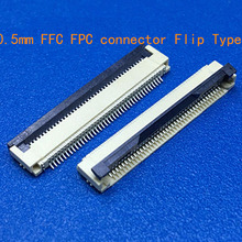 10pcs FFC / FPC connector 0.5 mm 4 Pin 5 6 7 8 10 12 14 16 18 20 22 24 26 18 30 P Bottom