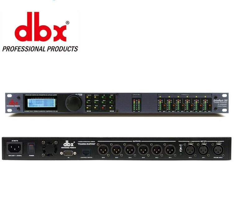 Haute Qualité Numérique processeur 3 dans 6 out DriveRack 260 Système de Son professionnel Équipement Effecteur pour vente chaude