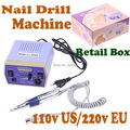 Drop Shipping Electric Nail Drill Machine Manicure 6 Drill Bits 4000-20000 RPM with Foot Pedal 110/220V With Retail Box