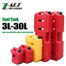 Praktyczne 3L Z-ART Benzyna Diesel Fuel Tank Może Pakować Z Zamkiem Dla Offroad SUV ATV Motocykle antystatyczna plastikowa paliwa Pack