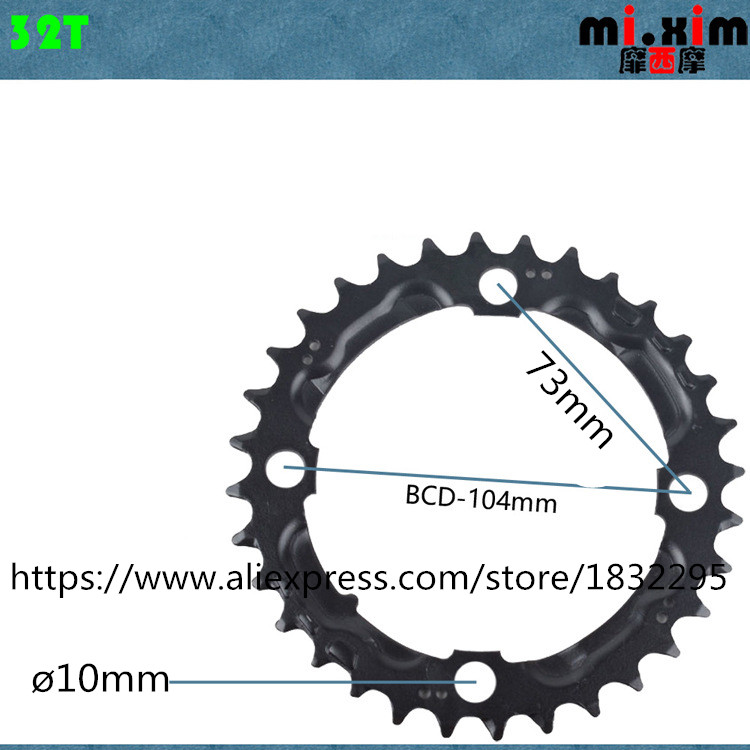 1pc 22T//32T//42T MTB Bike Bicycle Chainring For Crankset GX