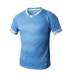 Men's soccer jerseys Quick dry Breathable training short sleeve skyblue orange football sports summer jersey