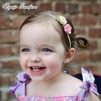 Rose Headband Do Bebê Hairband Menina Infantil Recém-nascidos Acessórios De DIY Conjunto Bebê Criança Handmade Headband Flor Boho Headwear Elástico