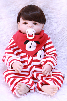 55cm Full Body Silicone Reborn baby toys reborn alive boy/girl best safe doll handmade as kids  Birthday Gift Present Bathe Toy