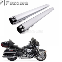 1 Pair Motorcycle Slip On Mufflers Exhaust Pipes for Harley Touring Dual Exhaust Silencer 1995 2016