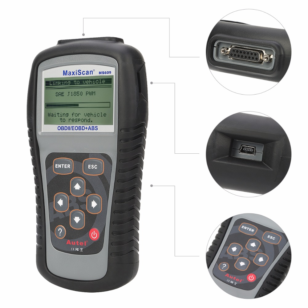 Image 5 - Autel Maxiscan MS609 OBD2 Scanner Code Reader with Full OBD2 Functions ABS Diagnostics DTC Definitions Advanced of MS509 & AL519 on