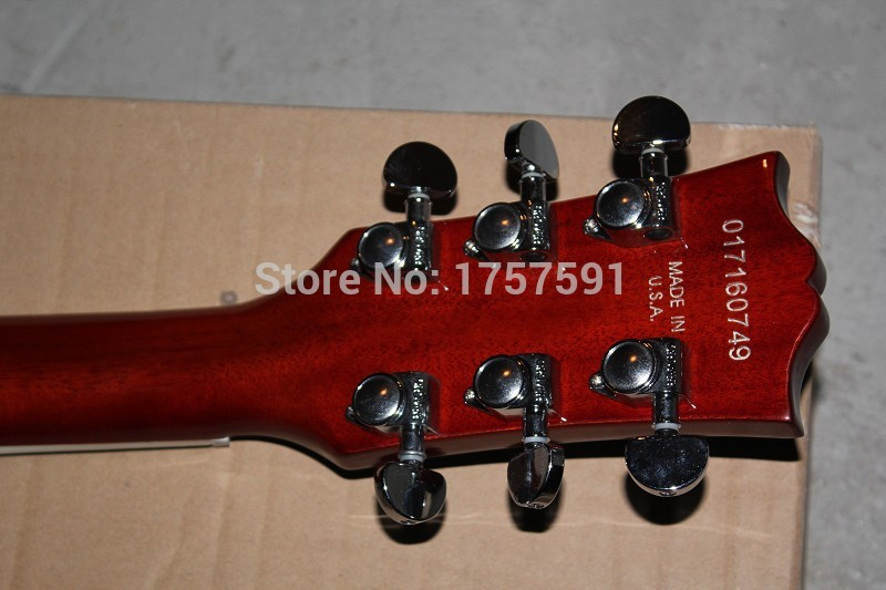 new arrival High Quality Custom Shop LP Standard Tiger stripe Flame brwon Electric Guitar In Stock
