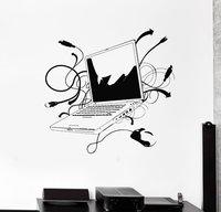 Компьютер винил стены Стикеры ноутбук-Интернет геймер Это игровая комната росписи Книги по искусству настенные кабинет украшения дома