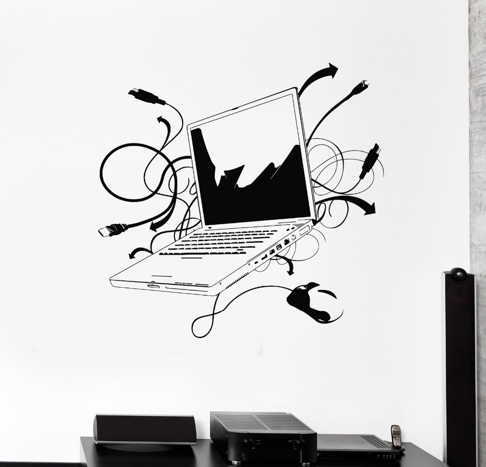 Aliexpresscom Buy Computer Vinyl Wall Sticker Laptop Computer