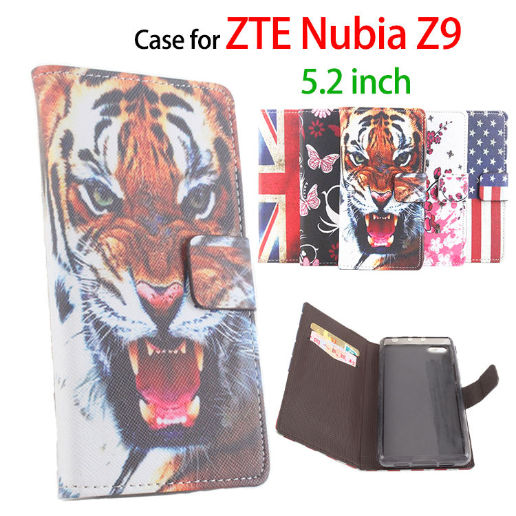 High Quality Leather Case For ZTE Nubia Z9 5 2 inch Flip Cover Case With Card