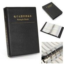 Resistores pretos 0603 1% smd, resistor de grampos, livro de amostra 170 valores 50 peças/valor 8500 peças resistores do kit