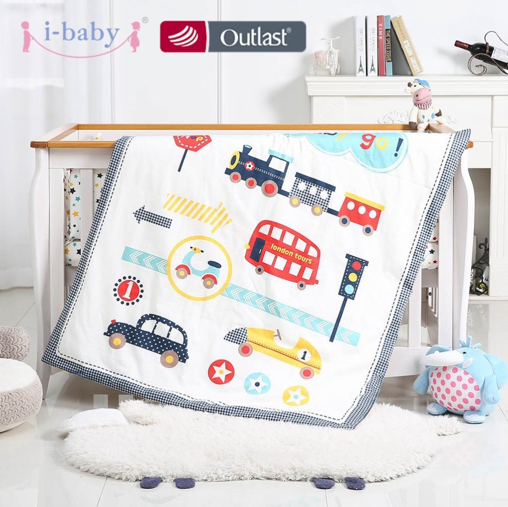 Happy Journey, 6PCS Impreso cuna ropa de - Ropa de cama